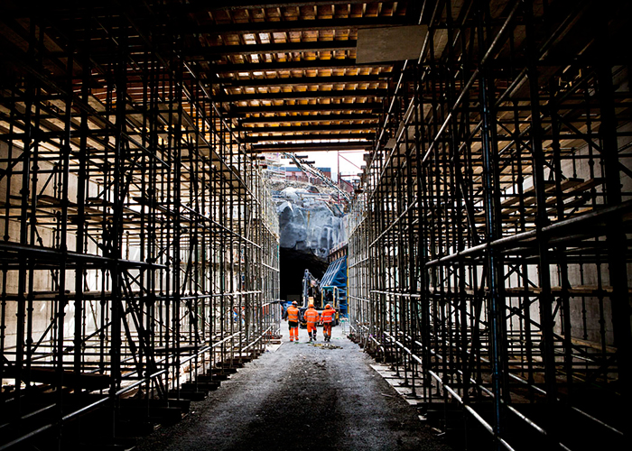 Citybanan byggarbetsplats