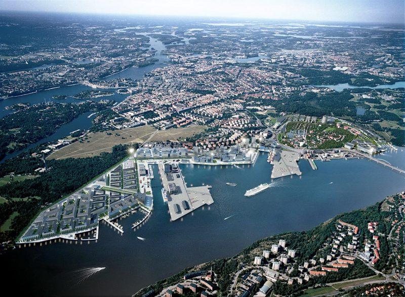 Illustration över hamnområdet.