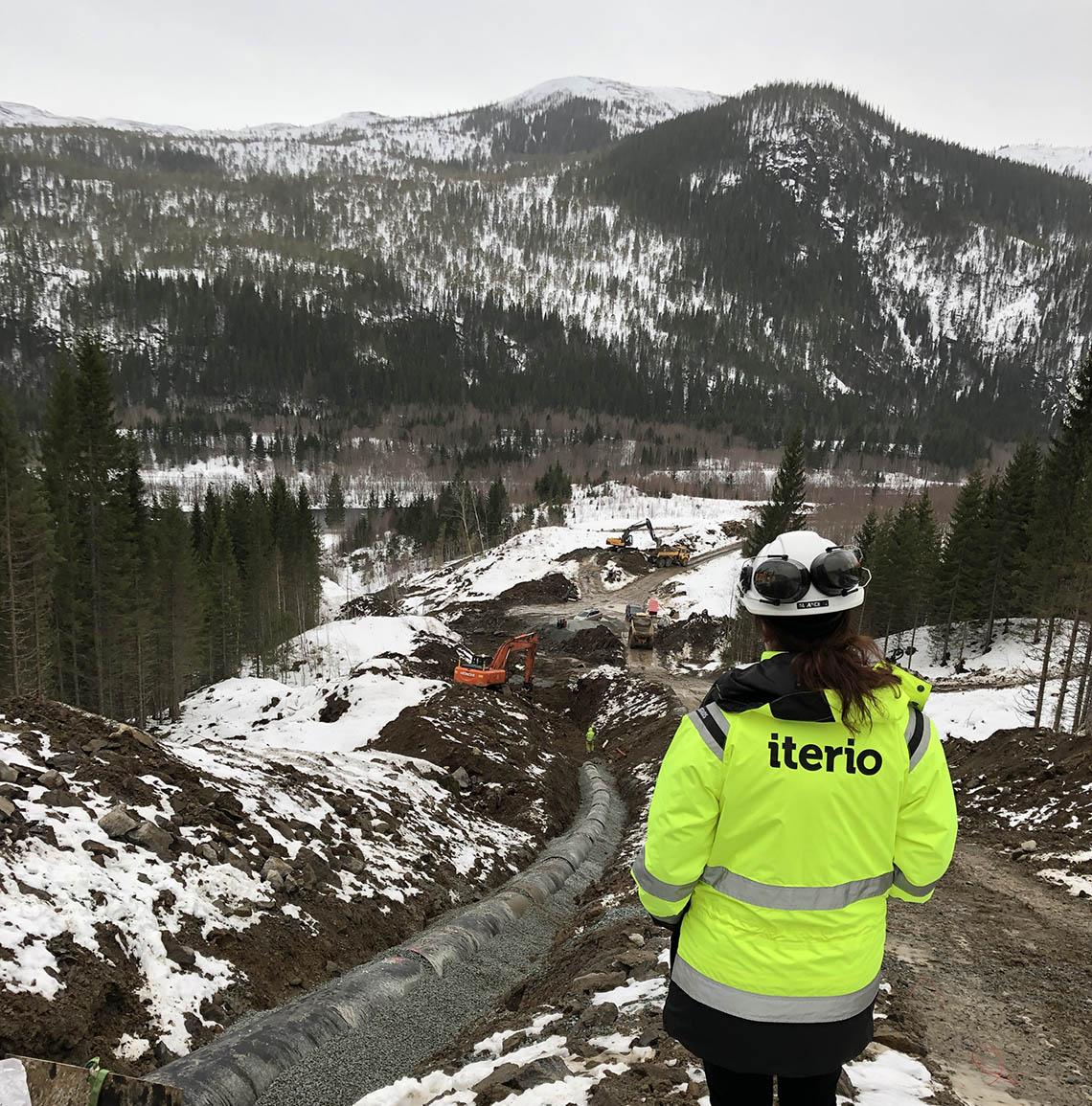 Vy över arbetet med Reinåa Kraftverk